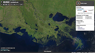 LandsatLook Viewer is showing images based upon date