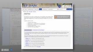 The LP DAAC website