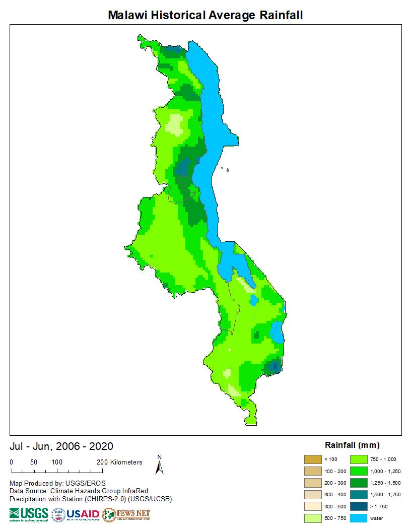 Products Early Warning And Environmental Monitoring Program - Malawi map png