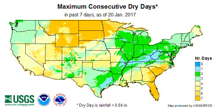 Max. Consecutive Dry Days (past 7 days)