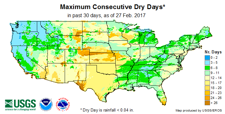 Max. Consecutive Dry Days (past 30 days)