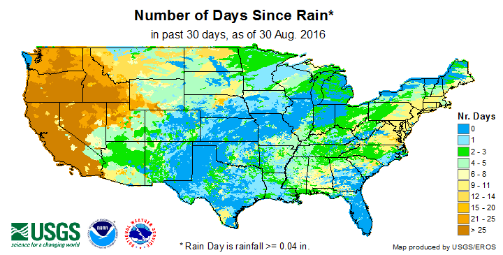 Days Since Last Rain