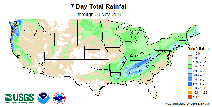 7 Day Total Rainfall
