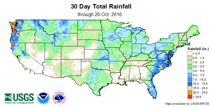 30 Day Total Rainfall